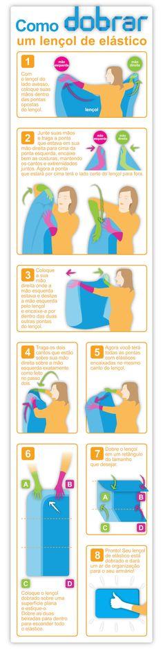 Como dobrar lençóis ajustáveis