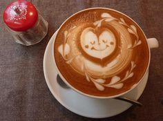 coffee hearts art.