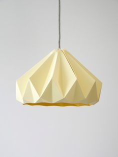 i need this in my office. NOW. - Chestnut paper origami lampshade Canary Yellow by nellianna