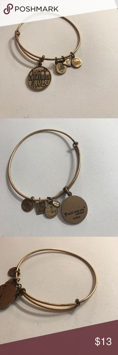 "Alex and Ani "" Let Creativity Rule"" bracelet Some ware, see pictures Alex & Ani Jewelry Bracelets"