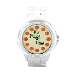 It's #Pizza Time Funny Wrist Watch