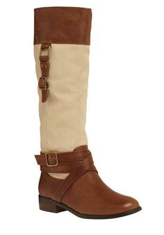 Cream and Brown Boots