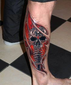 Skull tattoo by Jurgis Mikalauskas Amazing 3d Tattoos, Unique Tattoos, Sexy Tattoos, Beautiful Tattoos, Tattoos For Guys, Cool Tattoos, Skull Tattoos, Body Art Tattoos, Sleeve Tattoos