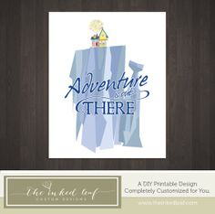 11x14 Paradise Falls Adventure is Out There by TheInkedLeaf, $5.00