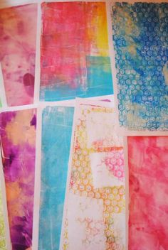 gelli plate techniques | ... love my gelli plate! Even without stencils or ... | Techniques to L