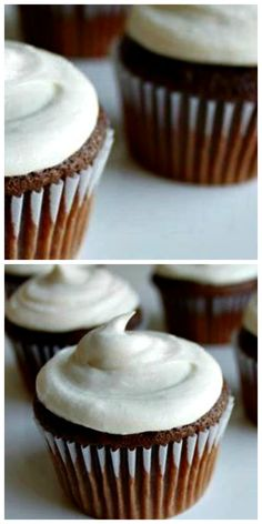 Chocolate Malt Cupcakes with Malted Vanilla Buttercream Frosting