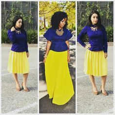 Outfit inspiration #yellowskirt #blueshirt #copycat #outfitinspiration #lookalike