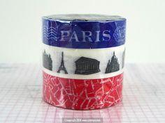 Paris+Coup+de+Coeur+Japanese+Washi+Tape+BLUE $8.50