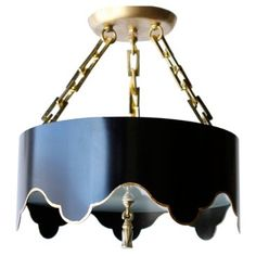 Check out this item at One Kings Lane! Tole Tent Semi Flush Mount, Black