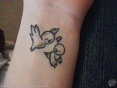 cute birds tattoo
