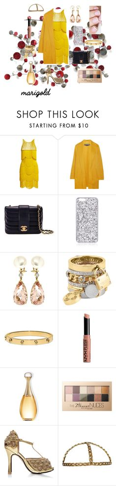 """""""1920s Winter Ball dream outfit! 💛💛💛"""" by caitylovesfashion99 ❤ liked on Polyvore featuring Naeem Khan, Rochas, Chanel, Valentin Magro, Henri Bendel, Tory Burch, NYX and Maybelline"""