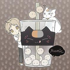 Natsume y Nyanko-sensei Anime Chibi, Anime Art, Anime Picture Boy, Natsume Takashi, Hotarubi No Mori, Handsome Anime Guys, Cat Aesthetic, Natsume Yuujinchou, Kawaii Wallpaper