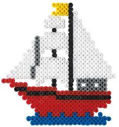 Schiff - Hama Perlen