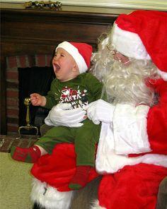 Scared of Santa.  :)