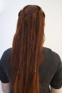 viking braids tutorial - Google Search