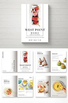 Ideas For Design Publicity Editorial Corporate Design, Design Social, Brochure Food, Brochure Design, Branding Design, Portfolio Web, Portfolio Layout, Recipe Book Design, Food Catalog