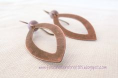 Orecchini rame e vetro (Fascinationstreet B-handmade) Tags: metal metalwork copper earrings patina sawing intaglio orecchini