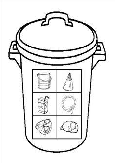 vuilnisbak kleurplaat 1000 images about afval on