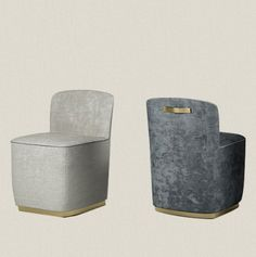 padded armchair low backrest
