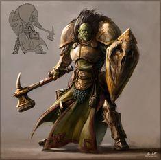 Orc templar by *ZsoltKosa on deviantART