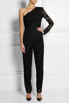 Emilio Pucci | One-shoulder lace jumpsuit | NET-A-PORTER.COM