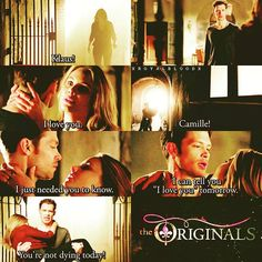 3x19 Caption this, 'cause I can't find words to describe this perfect scene. #TheOriginals #Klamille