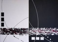 """""""Tuxedo - Pair,"""" original abstract painting by artist Rejean Giguere available at Saatchi Art #SaatchiArt"""