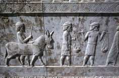 Relief of Indians, the Apadana, Persepolis, Iran.