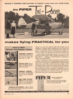 https://flic.kr/p/Rhuszw   1956 Piper Tri-Pacer Aircraft Advertisement Time April 2 1956   1956 Piper Tri-Pacer Aircraft Advertisement Time April 2 1956