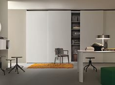 Seamless Wardrobe with sliding doors by Lema design CRS Lema