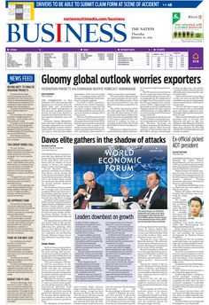 Gloomy global outlook worries exporters - -The NATION's Business Page, January 22, 2015