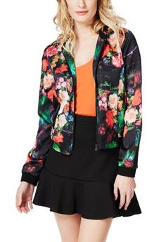 Throw on this floral print bomber jacket from @justfabonline and put some funkiness into your outfit  #justfabapparel