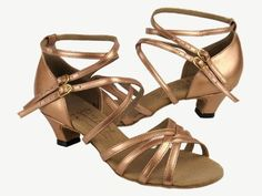 9f208382acd2 Ladies Women Ballroom Dance Shoes for Latin Salsa Tango Signature Copper  Nude Leather Cuban Heel     You can find out more details at the link of  the image.