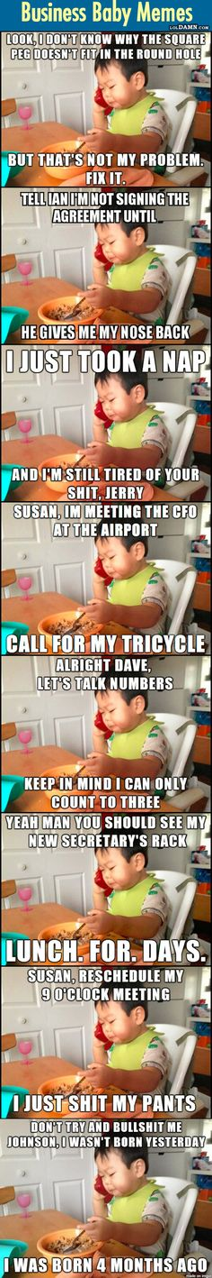 """Here, I Present You The New """"Business Baby"""". 10 Funniest Business Baby Memes So Far."""