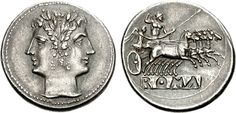 Roman Chariot, Copper Coin, Roman Republic, Coin Art, Capricorn And Aquarius, Biblical Art, Janus, Ancient Rome, Coin Collecting