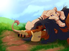 Annoying Cub by nyaruh on DeviantArt Kiara Lion King, Lion King 1, Lion King Fan Art, Lion King Movie, Lion Art, Disney Lion King, Big Cats Art, Cat Art, Anime Lion