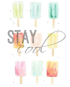 Stay Cool watercolor
