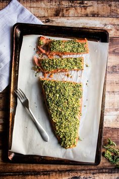 Walnut & Herb Crusted Salmon