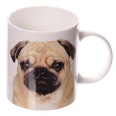 Coffee Mug Pug Fun Printed Dog New Bone China Cute by getgiftideas
