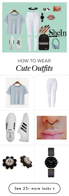 """""""Cute indie outfit #10"""" by klarkeyk on Polyvore featuring adidas, Miss Selfridge, Kate Spade, Myku and Lime Crime"""