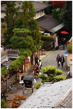 A street in Higashiyama, Kyoto, Japan