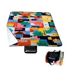 Pikniková deka s farebným motívom - domtextilu. Picnic Blanket, Outdoor Blanket, Sport, Deporte, Sports, Picnic Quilt