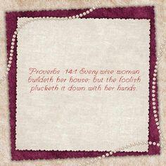 Proverbs 14:1 KJV