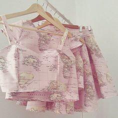 Map crop tops &i skirts from @cruelcandy