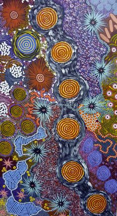 Great artist and share skin name I was given at Lajamanu N. Aboriginal Painting, Aboriginal Artists, Dot Painting, Indigenous Australian Art, Indigenous Art, Australian Artists, Tachisme, Art Premier, Naive Art