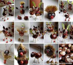 DIY Kastanien Figuren