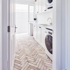 These herringbone floor tiles are the business! They look and feel just like reclaimed bricks but they're actually porcelain! So much more…