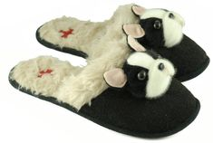 Boston terrier slippers womens~~ Love and Want these!