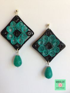 "Earrings ""Arabesco_03"" a paper jewel by QuillyPaperDesign"