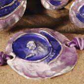 Bracelet~Enamel Purple & Lilac Round Bracelet~BR303-Fair trade by Namaste & Folio Gothic Hippy